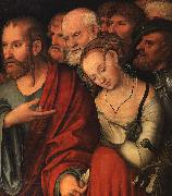 CRANACH, Lucas the Younger Christ and the Fallen Woman (detail) oil painting picture wholesale